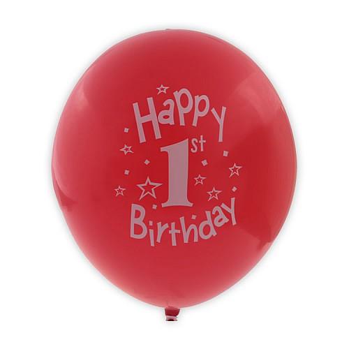 1 Jahr Happy Birthday Farbenmix Party Luft Ballon 10 Stück