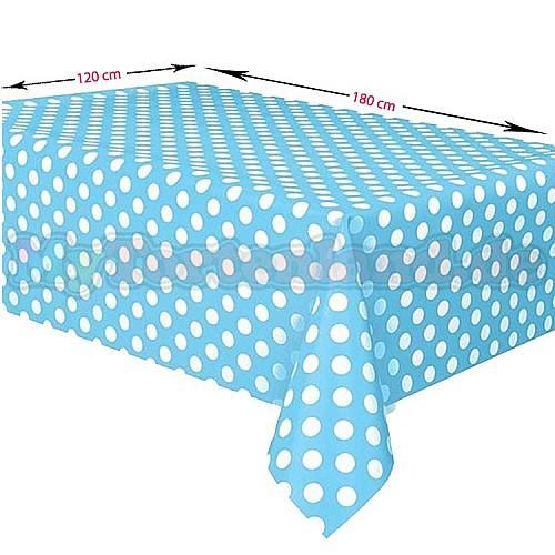 Blau Gepunktet Tischdecke 120 x 180 cm