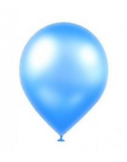 Metallic Blau Party Luft Ballon 10 Stück