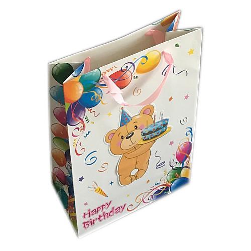 Baby Thema mit 3D Teddybär Geschenktüte