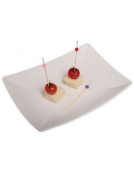 Farbige Perlen Holz Partypicker / Zahnstocher 10 Stück