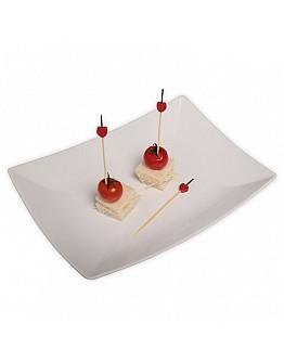 Herz Rot Holz Partypicker / Zahnstocher 10 Stück