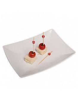 Rote Holz Perlen Partypicker / Zahnstocher 10 Stück