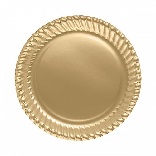 Gold Teller - Pappe 8 Stück