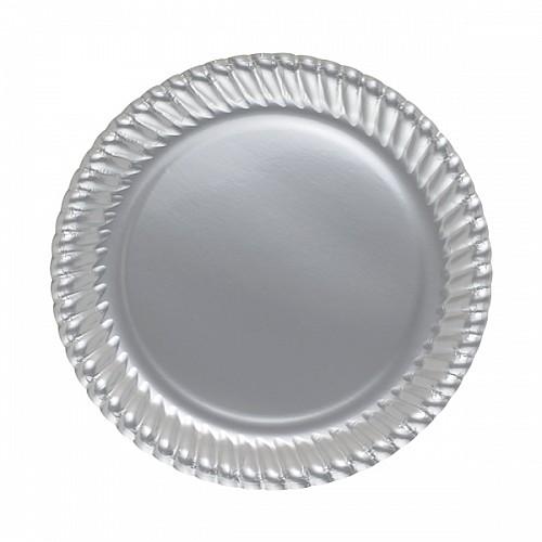 Silber Teller - Pappe 8 Stück
