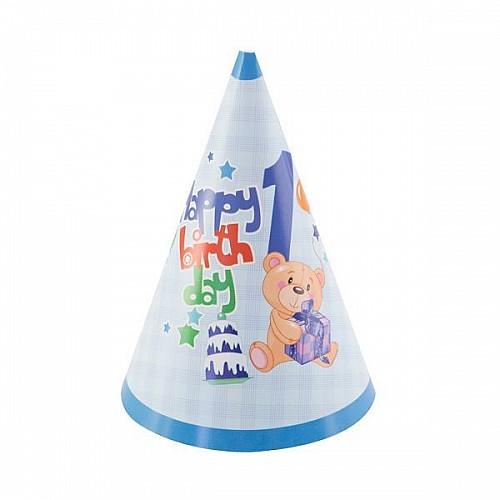 Blauer Partyhut 1'er Geburtstag