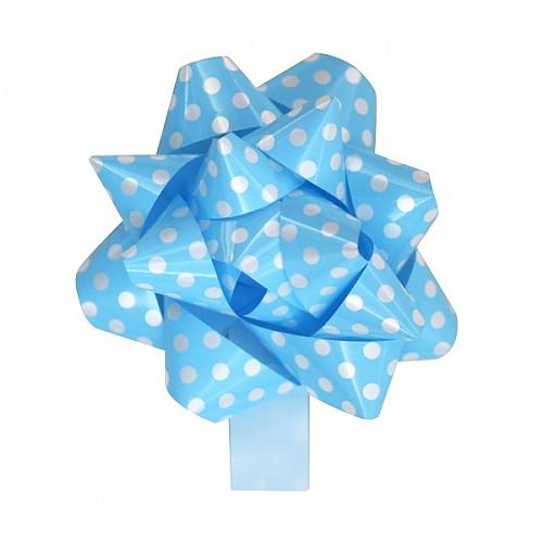 Blau Gepunktet Fertigschleife selbstklebend 20 Stück