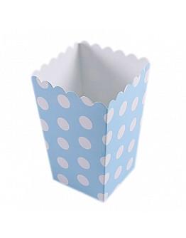 Popcorn Box Blau Gepunktet 10 stück