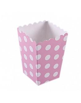 Popcorn Box Rosa Gepunktet 10 stück