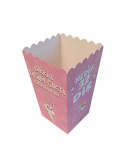Rosa Erster Zahn Popcorn Box 10 stück