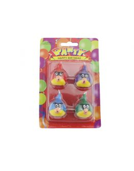 Angry birds Kerzen 4 Stück