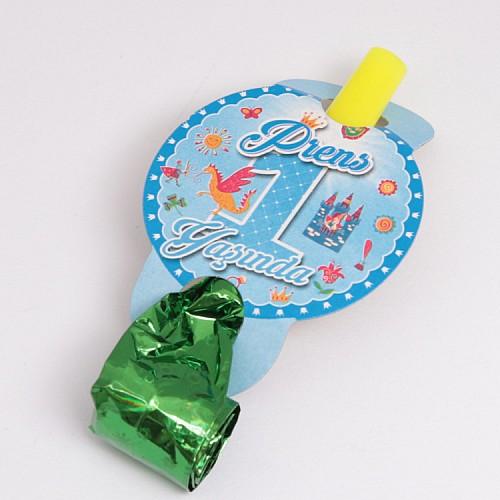 Blau 1 Jahr Partypfeifen / Tröten 6 Stück