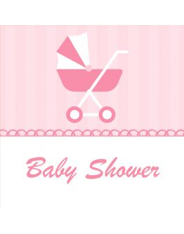 Baby Shower Viereck ( Madlen & Box ) Selbst Sticker - Etiketten