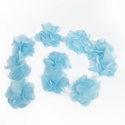 Blau Laserschnitt Blumen 1 meter