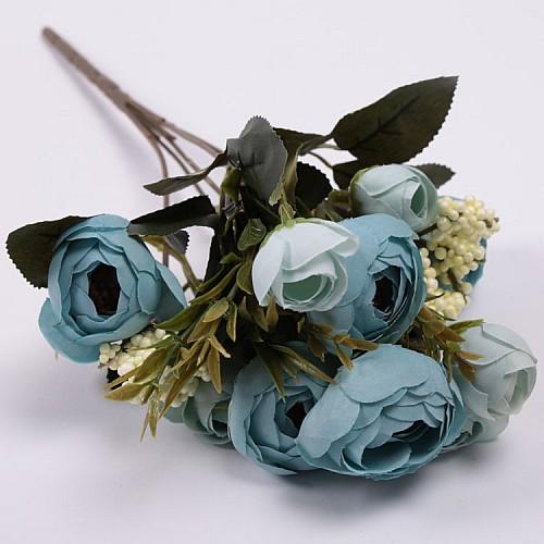 Blau Pfingstrose mit Knospe