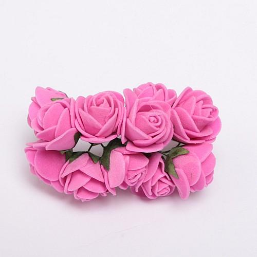 Fuchsia Miniatur Rosen, Kleine Blumen 12 stück
