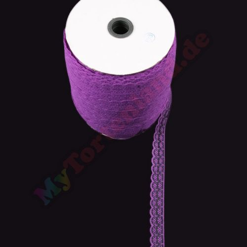 Lila Spitze Schleifenband 1 Meter