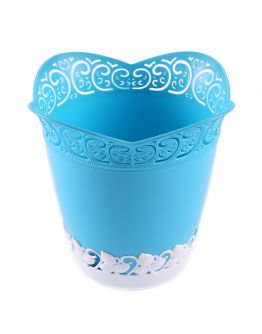 Dekoration Vase Aus Plastik Blau 1 Stück