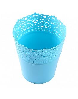 Dekoration Vase Aus Plastik Hellblau 1 Stück