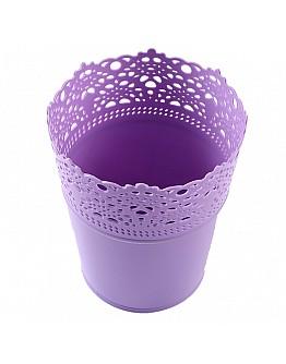 Dekoration Vase Aus Plastik Lila 1 Stück