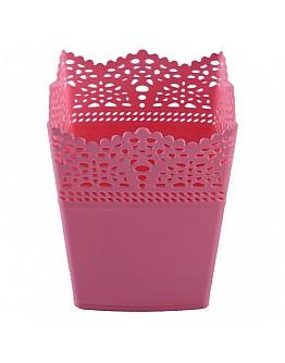 Dekoration Vase Aus Plastik Pink Viereck 1 Stück