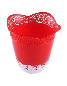 Dekoration Vase Aus Plastik Rot 1 Stück