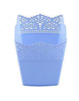 Dekoration Vase Aus Plastik Viereck Blau 1 Stück