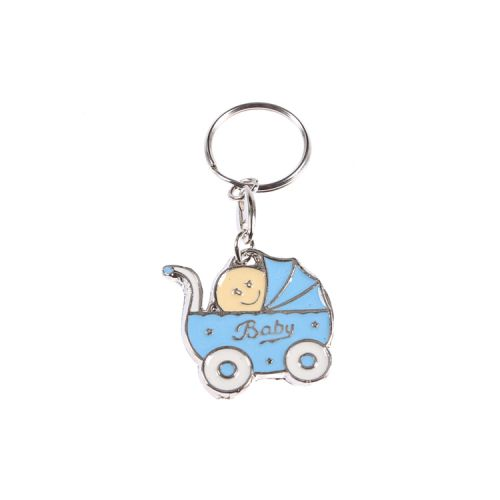 Baby im Blau Babywagen Schlüsselanhänger 1 Stück