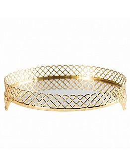 Spiegelglas Verlobungstablett / Tablet ( Jardinyer ) Silber oder Gold