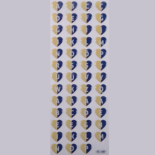 Blau Gelb Herz Buchstaben ( Fenerbahçe )Sticker Aufkleber