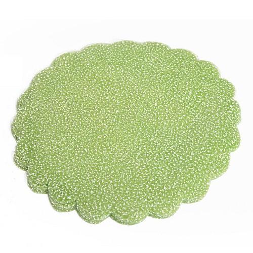 Grün Verschneite Tüll mit Glitzereffekt 100 Stück 23 cm