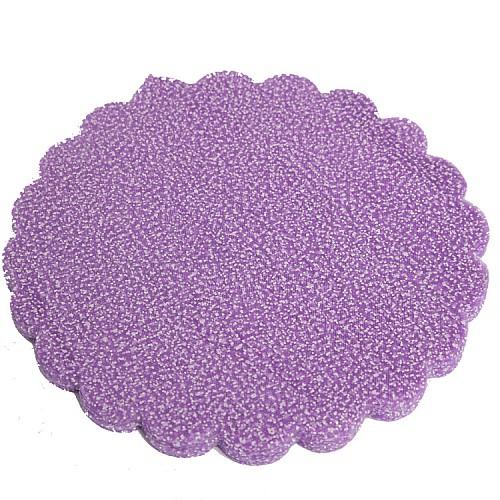 Lila Verschneite Tüll mit Glitzereffekt 100 Stück 23 cm