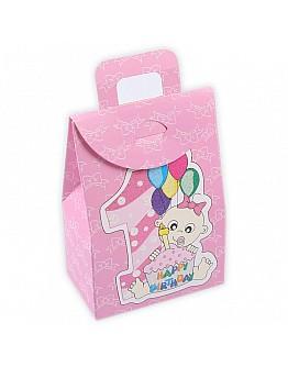Geschenkbox 1 Happy Birthday Pink 5 stück