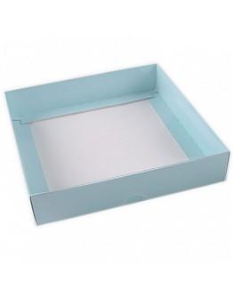 Geschenkbox Blau mit Deckel 15x15x3 5 stück