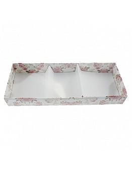 Geschenkbox Rosa Blumen Muster Mitdeckel Seife&Duftsteine 9x25 10 Stück