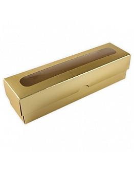 Macaron Box Gold mit Deckel 5x20x5 5 stück