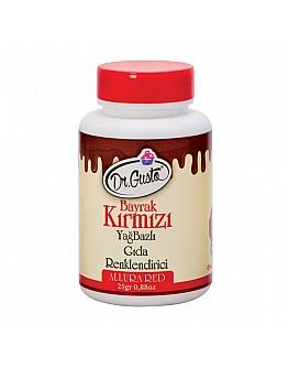 Dr Gusto Lebensmittel Pulverfarbe Fettlöslich Dunkelrot 25g