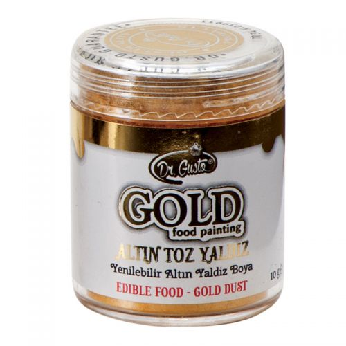 Dr Gusto Lebensmittelfarbe Metallic - Glitzer Effekt Gold 10 g