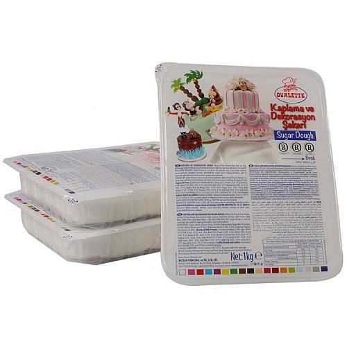 Ovalette Rollfondant  Weiß 1 kg
