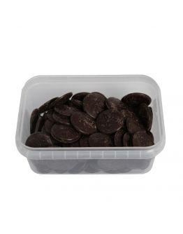 Ovalette Münzenschokolade / Schmelzdrops - Bitter Schokolade