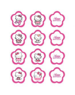 Hello Kitty Thema  Cupcake/Muffin Aufleger
