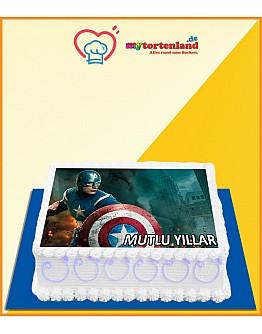 Captain America 2 Tortenaufleger / Lebensmittel Fotodruck