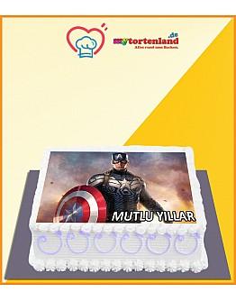 Captain America 3 Tortenaufleger / Lebensmittel Fotodruck