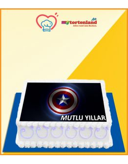 Captain America Schild Tortenaufleger / Lebensmittel Fotodruck