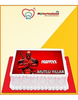 Deadpool Tortenaufleger / Lebensmittel Fotodruck