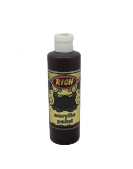 Rich Opak Acrylfarbe Asphalthum 130ml