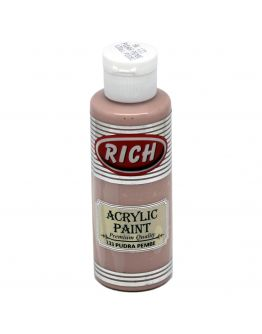 Rich Opak Acrylfarbe Puder Rosa 130ml