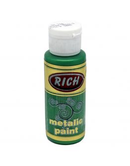 Rich Acrylfarbe Metallic Blattgrün 70ml