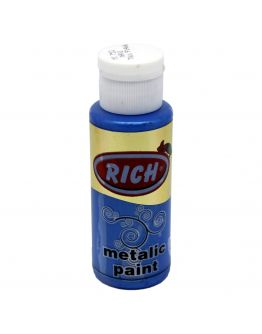Rich Acrylfarbe Metallic Blau 70ml
