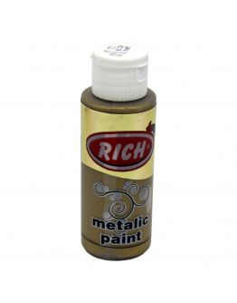 Rich Acrylfarbe Metallic Dunkel Gold 70ml